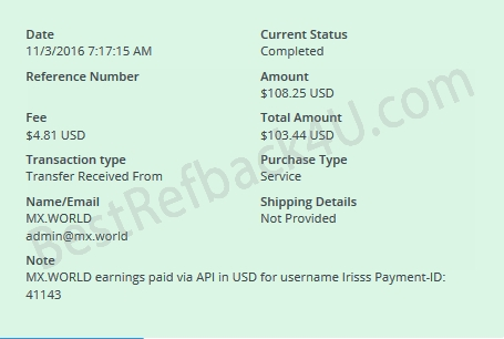 mxworld mxrevshare payment proof