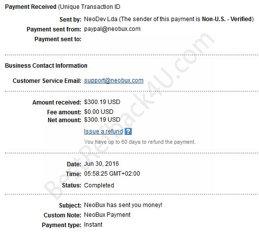 Neobux payment proof