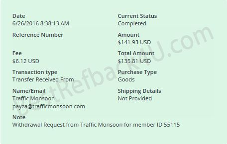 trafficmonsoon payment proofs